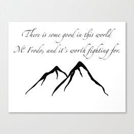 Sam quote Canvas Print