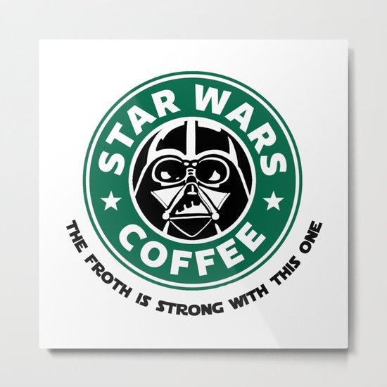Star Wars Coffee Metal Print