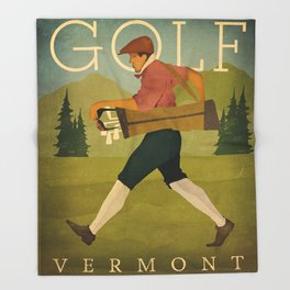 Vintage Golf Throw Blanket