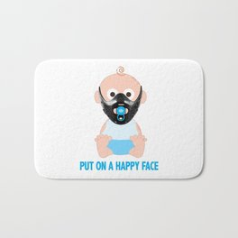 Put on a Happy Face Bath Mat