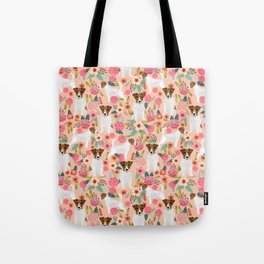 Jack Russell Terrier florals cute pastel flowers gardener with dog pet lover dog art pet portraits  Tote Bag