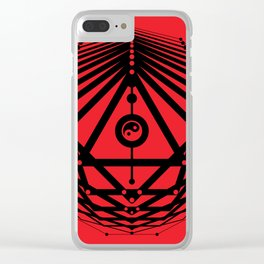 Radiant Abundance (red-black) Clear iPhone Case
