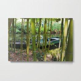 Monet's Boat Metal Print