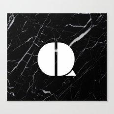 Black Marble - Alphabet Q Canvas Print