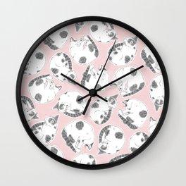 Sleepy Kitties Wall Clock