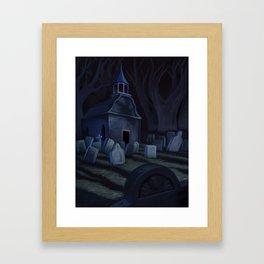 Sleepy Hollow Churchyard Cemetery Framed Art Print