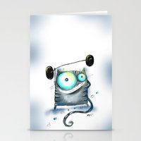 fitness Stationery Cards featuring fitness by Katja Main