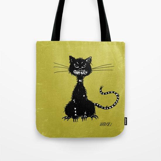 Ragged Evil Black Cat Tote Bag