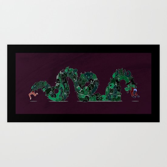 Rollercoaster of Emotions Art Print
