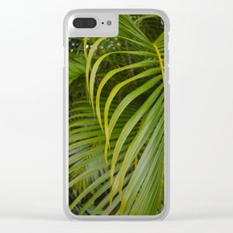 Summer Palm Leaves Clear iPhone Case