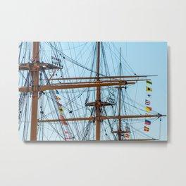 Full Mast Metal Print