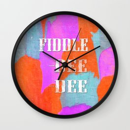 Fiddle - Dee -Dee Wall Clock