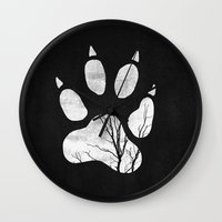 into the wild Wall Clocks featuring Wild by Elisabeth Fredriksson