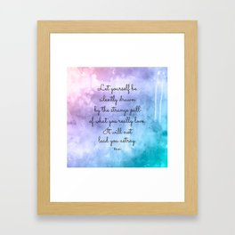 Do what you love..! Inspirational Quote by Rumi Framed Art Print