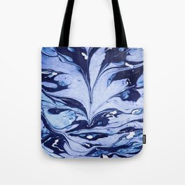 Dark and Bright and Blue Tote Bag