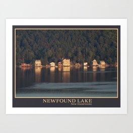 Houses on the Newfound Lake Art Print