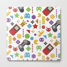 video game pattern Metal Print