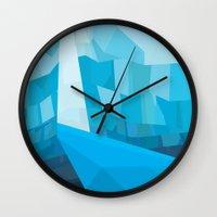 superheroes Wall Clocks featuring Superheroes SF by Joe Van Wetering