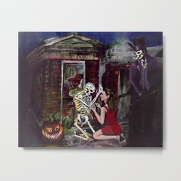 RARE LOVE, Halloween, Original art Metal Print