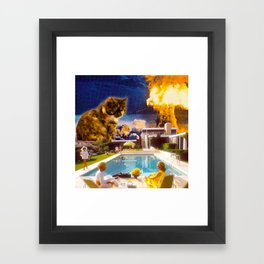 Midcentury Radioactive Cuddle Unit 5 Framed Art Print