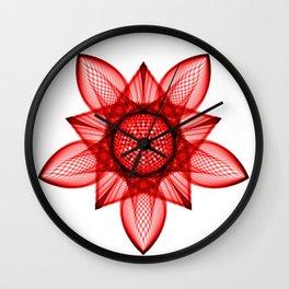 Mandala Poinsetta Wall Clock