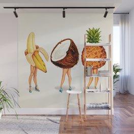 Tropical Fruit Pin-Ups Wall Mural