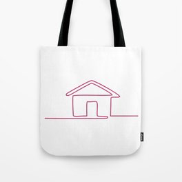 House Continuous Line Art Tote Bag