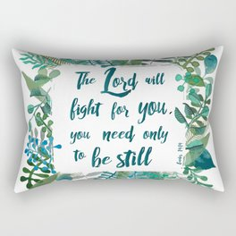 Exodus 14:14 Rectangular Pillow