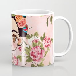Frida cartoon roses Coffee Mug