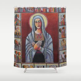 Holy Family #1 By Nabil Anani Shower Curtain