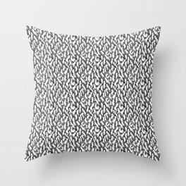 White Ghostly Pattern Throw Pillow