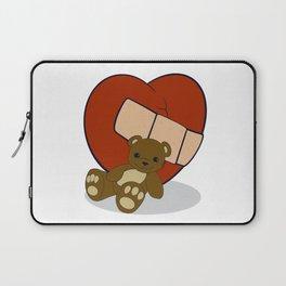 Luv Animal - Teddy Bear w/Band-Aid Laptop Sleeve