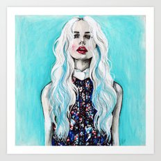 Fleur bleu Art Print