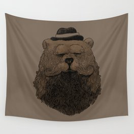 Grizzly Beard Wall Tapestry