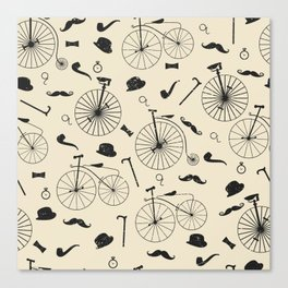 The Victorian Gentleman Goes Cycling Canvas Print