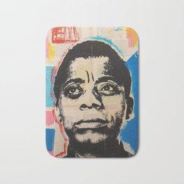 James Baldwin Canvas Print Bath Mat