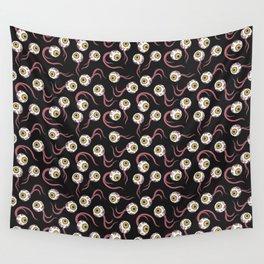 Yellow Eye Pattern Wall Tapestry