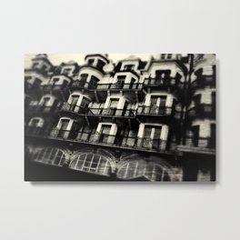 Houses on Hastings Seafront Metal Print