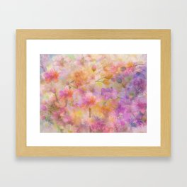 Sophisticated Painterly Floral Abstract Framed Art Print