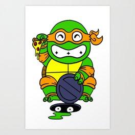 lucky turtle Art Print