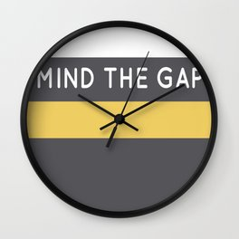 Mind The Gap London Underground Wall Clock
