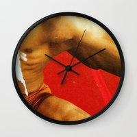 body Wall Clocks featuring BoDy  by Hakim Pop Art