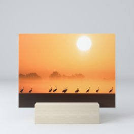 #Cranes on a #November #morning in #Germany Mini Art Print