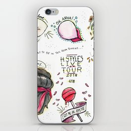 harry styles- live on tour flash sheet iPhone Skin