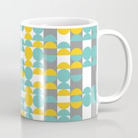 60s Mugs featuring 60s pattern 02 by Ioana Luscov