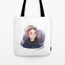 Jane Austen portrait Tote Bag