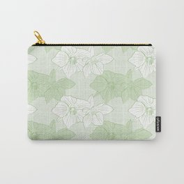 Green Hellebores Carry-All Pouch
