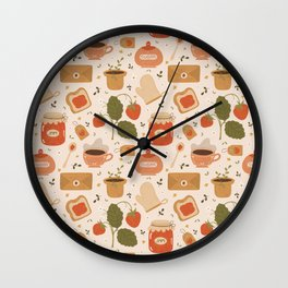 Strawberry Jam Wall Clock
