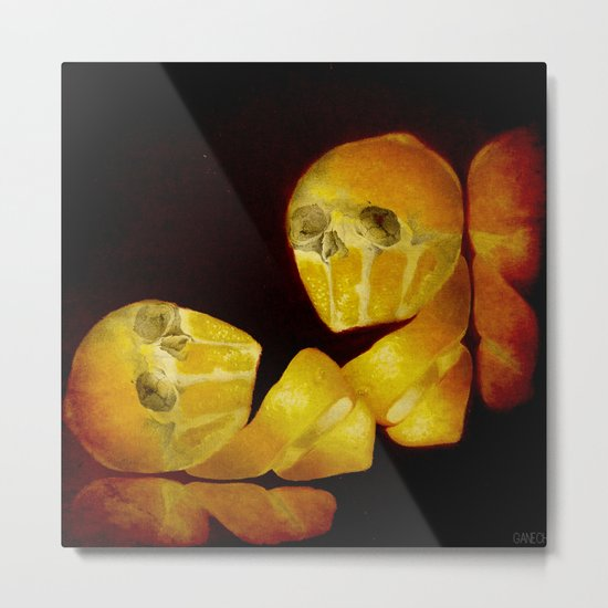 Lemon Bone Metal Print