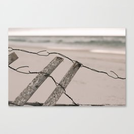 Santa Rosa Beach fence Canvas Print